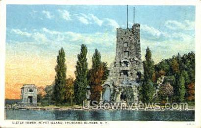 Alster Tower, Heart Island - Thousand Islands, New York NY Postcard