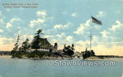 Zavikon, Canadian Channel - Thousand Islands, New York NY Postcard