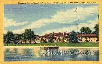 Thousand Islands Country Club - New York NY Postcard