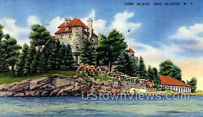 Dark Island - Thousand Islands, New York NY Postcard