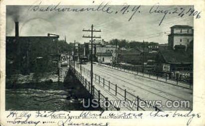 Seneca River Bridge - Baldwinsville, New York NY Postcard