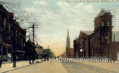 Broadway - Buffalo, New York NY Postcard