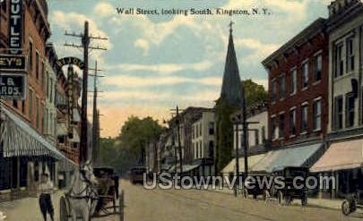 Wall Street - Kingston, New York NY Postcard