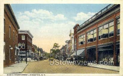 Front Street - Kingston, New York NY Postcard