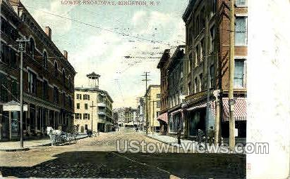 Broadway - Kingston, New York NY Postcard