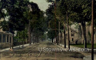 Fair Street - Kingston, New York NY Postcard