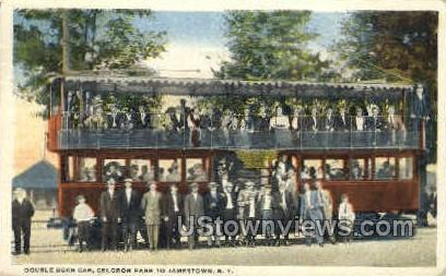 Double Deck Trolley - Jamestown, New York NY Postcard