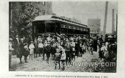 First Trolley Car - Jamestown, New York NY Postcard