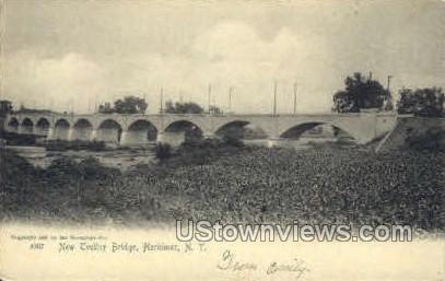 New Trolley Bridge - Herkimer, New York NY Postcard