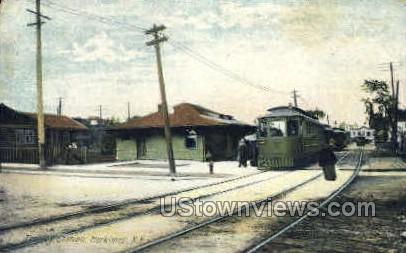 Trolley Station - Herkimer, New York NY Postcard