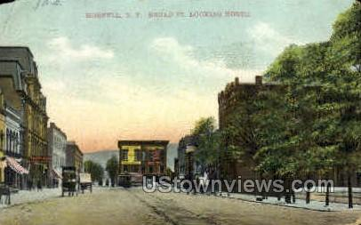 Broad Street - Hornell, New York NY Postcard