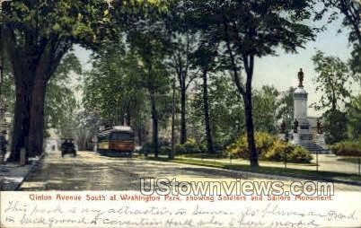 Clinton Avenue - Rochester, New York NY Postcard