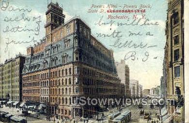Hotel Powers - Rochester, New York NY Postcard