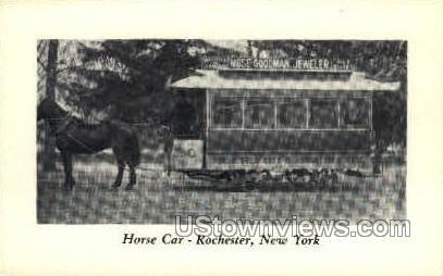 Horse Car - Rochester, New York NY Postcard
