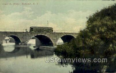 Court St. Bridge - Rochester, New York NY Postcard