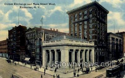 Exchange Street - Rochester, New York NY Postcard