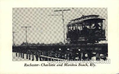 Charlotte, Manitou Bch - Rochester, New York NY Postcard