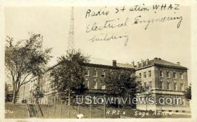 Radio Station WHAZ - Troy, New York NY Postcard