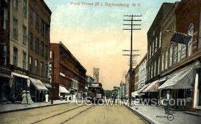 Ford Street - Ogdensburg, New York NY Postcard
