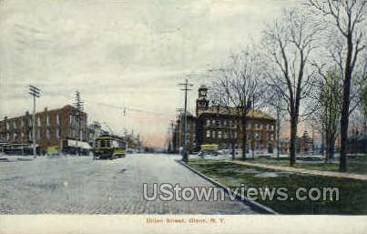 Union Street - Olean, New York NY Postcard