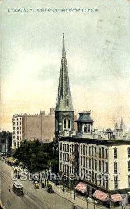 Grace Church - Utica, New York NY Postcard