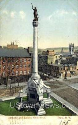 Soldiers & Sailors Monument - Troy, New York NY Postcard