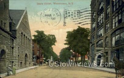 State Street - Watertown, New York NY Postcard
