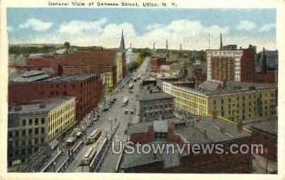 Lower Genessee Street - Utica, New York NY Postcard