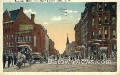 Bleecker Street - Utica, New York NY Postcard
