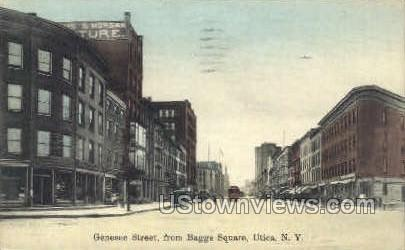 From Baggs Square - Utica, New York NY Postcard