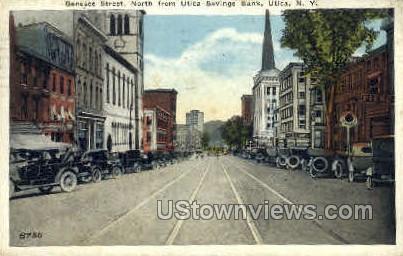 Savings Bank - Utica, New York NY Postcard