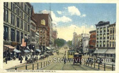 South From Bridge - Utica, New York NY Postcard