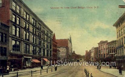 Canal Bridge - Utica, New York NY Postcard