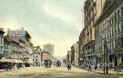 Genesee Street - Utica, New York NY Postcard