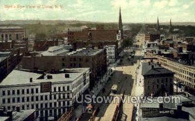 Birds Eye View - Utica, New York NY Postcard