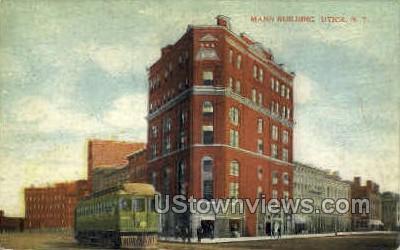 Mann Building - Utica, New York NY Postcard
