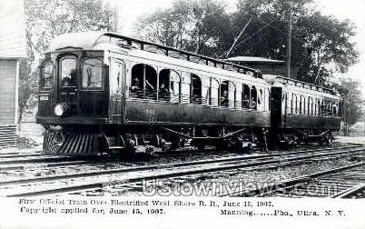 Repro - First Official Train - Utica, New York NY Postcard