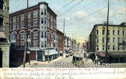 Shopping District - Troy, New York NY Postcard