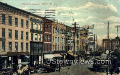 Franklin Square - Troy, New York NY Postcard