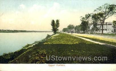 Upper Hudson - Troy, New York NY Postcard