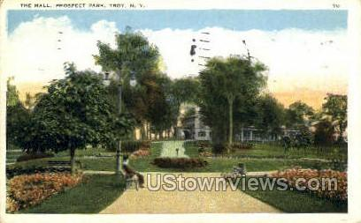 The Mall, Prospect Park - Troy, New York NY Postcard