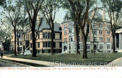 Emma Williard Seminary Bldg - Troy, New York NY Postcard