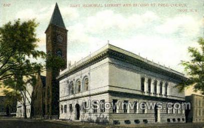 Hart Memorial Library - Troy, New York NY Postcard