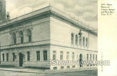 Hartt Memorial Library - Troy, New York NY Postcard
