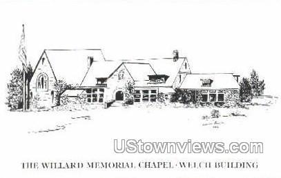 The Willard Memorial Chapel - Troy, New York NY Postcard