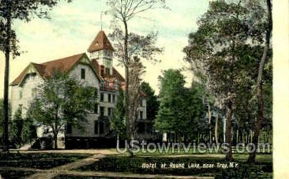 Hotel at Round Lake - Troy, New York NY Postcard