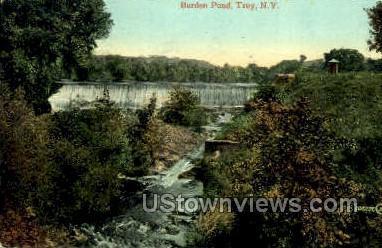 Burden Pond - Troy, New York NY Postcard