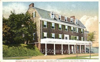 Rensselaer Union Club House - Troy, New York NY Postcard