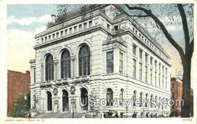 Music Hall - Troy, New York NY Postcard