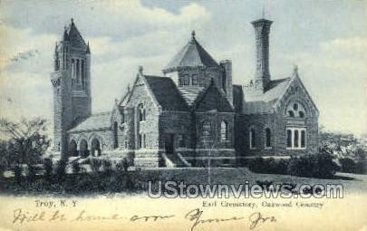 Earl Crematory - Troy, New York NY Postcard